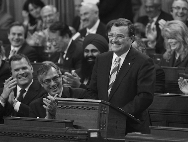 In death, former federal finance minister Jim Flaherty may have become better known to Canadians than he was in life. (Photograph by Jason Ransom, Office of the Prime Minister)