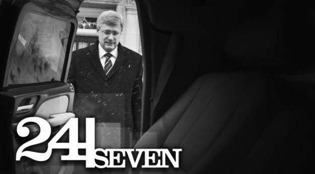 Government cameras follow Prime Minister Stephen Harper everywhere but who is actually watching? (Photograph by Government of Canada)